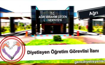 Öğretim Görevlisi ilanı (ağrı İbraim Çeçen Üniversitesi)