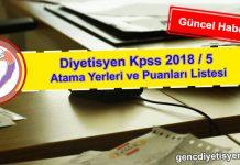 Diyetisyen Kpss 2018 5 Atama Yerleri ve Puanları Listesi