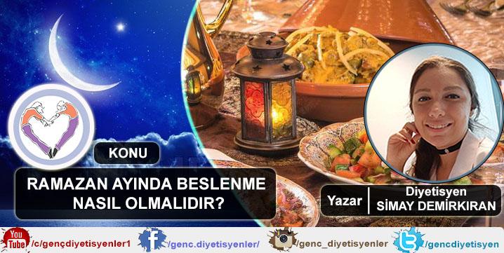 Dyt. Simay DEMİRKIRAN - Ramazan Ayında Beslenme