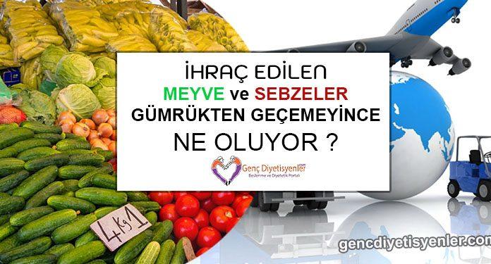 İhraç Edilen Meyve Sebzeler Gümrükten Geçemeyince Ne Oluyor