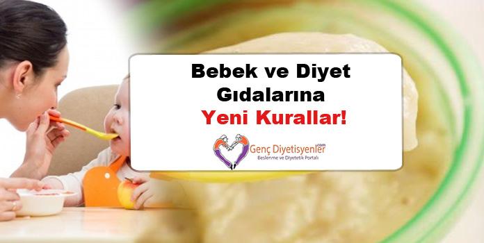Bebek ve Diyet Gıdalarına Yeni Kurallar