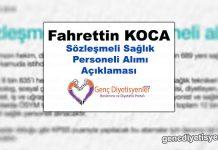 Fahrettin Koca Sözleşmeli Sağlık Personeli Alımı Açıklaması ( 5 TEMMUZ )