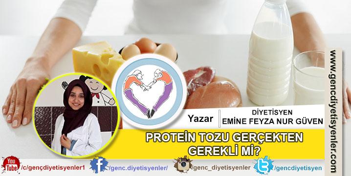 Dyt. Emine Feyza Nur Güven - Protein Tozu Gerçekten Gerekli mi
